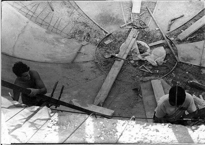 Construyendo el bowl grande del Parque Sindical